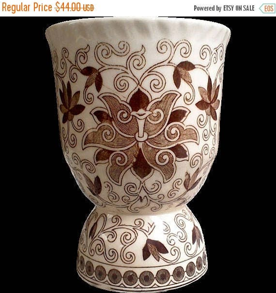 50% off Masons Bow Bells Egg Cup, Brown Transferware, Aesthetic Movement, Brown Toile, English Transferware, Serving Cup, Ironstone Egg Hold