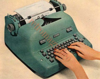Four vintage typewriter images digital downloads for art print, scrapbooking, mixed media, altered art,