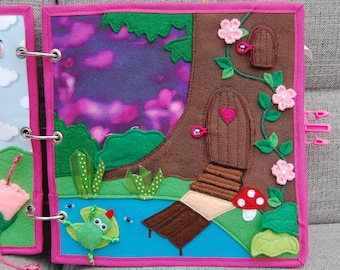 PATTERN & TUTORIAL Quiet book page Fairybook - Magic forest