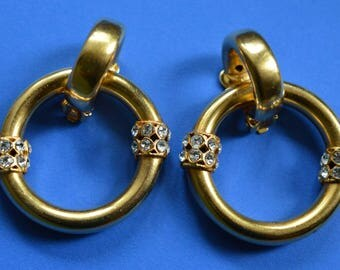 Authentic Vintage  GIANFRANCO FERRE Clip on Earrings 1980s