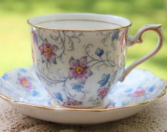 """Royal Albert Bone China Teacup and Saucer set """"Kendal"""""""