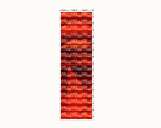 Bookmark Cross Stitch Kit, Embroidery Kit, Art Cross Stitch, Stitch Bookmark, Quiet Burning by Wassily Kandinsky (BK35)
