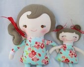 Custom Listing for Cassrob- Big Sister, Little Sister Set of 2 Dolls for Mila and Tessa