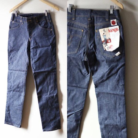 """1960s GWG super slim king 28"""" waist jeans // vintage GWG denim // vintage jeans"""