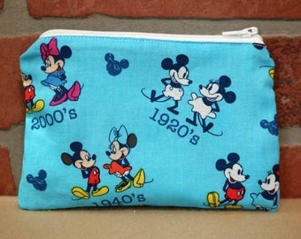 One Snack Sack, Reusable Lunch Bag, Waste-Free Lunch, Machine Washable, Mickey and Minnie, Back to School, School Lunch, item #SS86