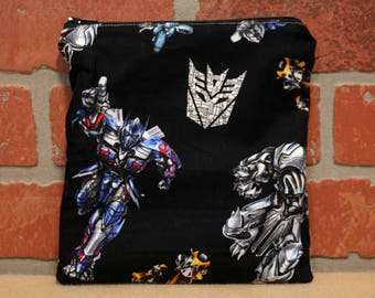 One Sandwich Bag, Transformers, Reusable Lunch Bags, Waste-Free Lunch, Machine Washable, Sandwich Sacks, item #SS76