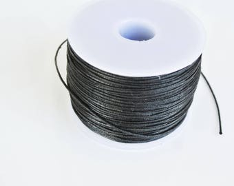 5 m cotton waxed black 0.5 mm