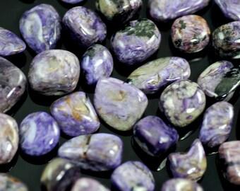 Charoite-Purple Charoite-Rare Russian Charoite-Genuine Charoite-High Grade Tumbled Charoite-Lavender Purple Charoite-Natural Charoite