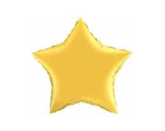 Gold, Star Foil Balloon, 20 Inch, Hanging Decorations, Party Decorations, Supplies, Graduation Balloons
