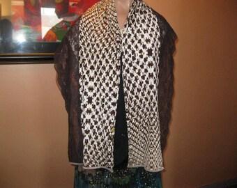 """scarf/shawl - lace and fabric - pattern """"anouchka"""""""
