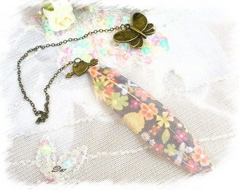 Bookmark like liberty Butterfly brass mother's day * D167