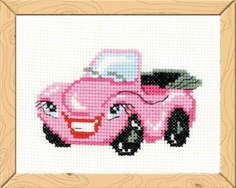 Cabriolet - Cross Stitch Kit from RIOLIS Ref. no.:HB108