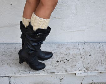 Boot Toppers - Knit Boot Toppers -Knitted Boot Toppers - Leg Warmers - Made to Order - Boot Covers - Boot Cuffs - Boot Socks - Crochet Cuff