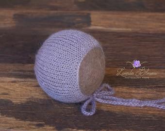 Mohair Bonnet, ready to ship, newborn photo prop