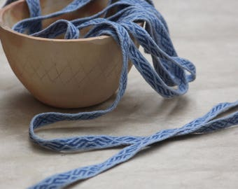 Tablet Weave - Blue and Pale Blue