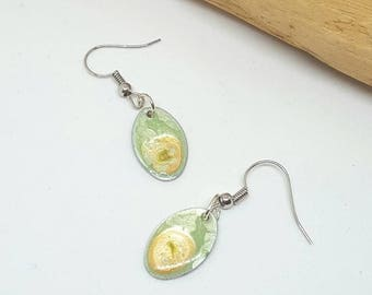 Mint Green and Yellow Earrings - Mint Green Earrings - Yellow Earrings - Green Earrings - Discount Earrings - Gift Ideas for Her