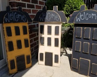 Saltbox house, Handmade wooden saltbox house,  county decor,  primitive decor
