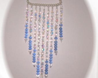 Suncatcher in blue and pearls