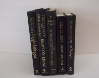 Black and Gold  Book Decoration - Black and Gold Books Home Decoration - 5 books - Decorative Books