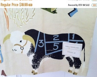 Shop Closing Sale Vintage MCM Novelty Fabric Cow Saddle Gun Holster Ranch ROUND UP