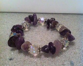 Amethyst bracelet: gemstone bracelet, amethyst bracelet, purple bracelet, Healing Stone Bracelet