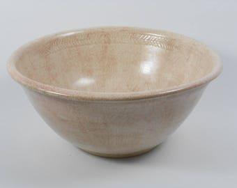 Pottery baptismal bowl - handmade baptism bowl - beige baptismal bowl - baptism bowl - liturgical ware W239