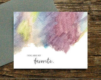 You Are My Favorite Card - Love Appreciation  Anniversary Friendship Valentine's Day Birthday Thank You Husband Wife Spouse Every Day [013]