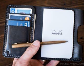 """Notebook/wallet/pen, """"Park Sloper Medium"""" - black"""