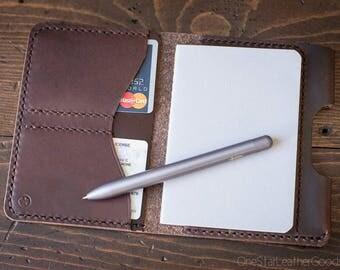 "Passport / Notebook holder, ""Park Sloper Passport"" - brown Chromexcel leather"