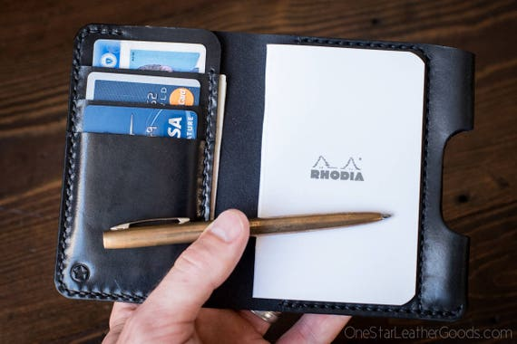 "Notebook wallet ""Park Sloper Medium"" + notebook - black"