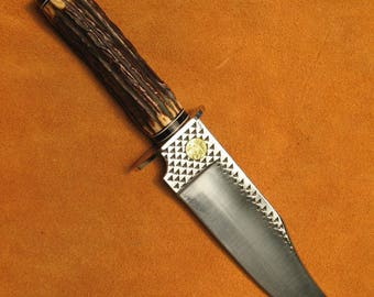 Bowie Knife with Antler Handle