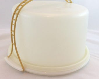 Vintage Tupperware Cake Carrier/Tupperware Large Round Cake Taker