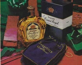 1976 Advertisement Seagrams Crown Royal Canadian Whisky Retro Vintage Wall Art Decor Liquor Advertising Pub Bar Man Cave Christmas