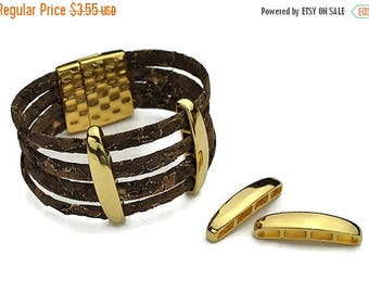 ON SALE 4-Strand Separator  (5MM) -  Gold - for use cord up to 5mm ( Qty. 2)