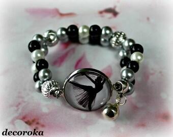 Elastic bracelet for children with cabochon BALLET