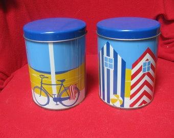 Gorgeous Regency Ware Vintage tins - Seaside collection.