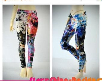 Thank You Sale 25% Off BJD MSD 1/4 Doll Clothing - Abstract Print Leggings - 2 Colors