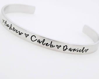 Custom Mother bracelet, Personalized, name bracelet, Mom Bracelet, Grandmothers Gift, Nanna's, Aunt, Mum, Mommy, Mother's Day, Momma Jewelry