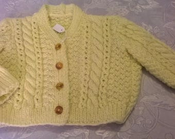 light yellow Cardigan toddler