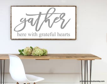 Charmant Dining Room Wall Art   Dining Room Sign   Large Gather Sign   Gather Here  With
