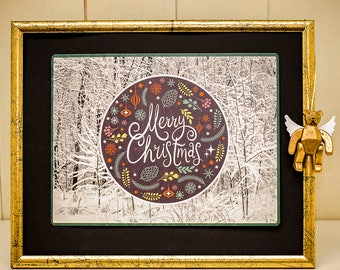Christmas Forest Merry Christmas-PosterCard-maxi