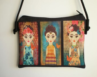 Shoulder bag, crossbody bag, Frida Kahlo, bag, printed bag, little bag, Frida Kahlo shoulder bag