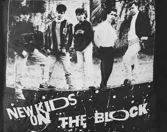 Vintage New Kids On The Block Bed Pillow