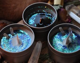 Black Lemon Ritual Candle
