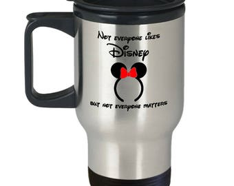 Everyone Likes Disney Gift Travel Mug Coffee Disneyland Minnie Ears Mickey
