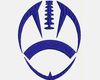 Football applique design Machine Embroidery Design - Instant Download Filled Stitches Design 308