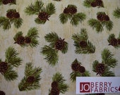 Reserve Listing for PAT for 10.25 Yards of Pine Cones from the Majestic Outdoors Collection by Greg and CO for Penny Rose Fabrics.