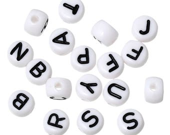 100 beads plastic letters to select A-Z