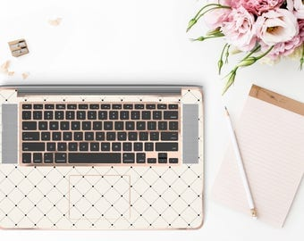 Simple is Beautiful and Rose Gold Detailing Inner Keyboard Tray Vinyl Skin for Apple Air & Retina , Macbook Pro 2017 - Platinum Edition