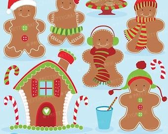 80% OFF SALE 80 Percent 0FF Sale Gingerbread man clipart commercial use, vector graphics, digital clip art, digital images  - Cl596